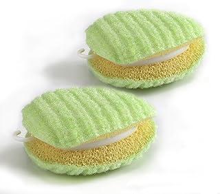 サンコー 洗濯用品 泥汚れ ブラシ 洗濯ブラシ ちょこっと洗濯 スポンジ 両面 握りやすい 2個セット びっくりフレッシュ グリーン 日本製 BH-05