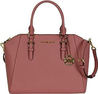 Michael Kors Large Ciara Safiano Leather Satchel Bag Rose