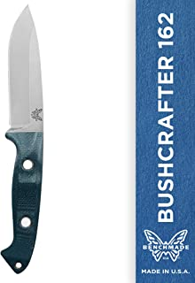 Benchmade - Bushcrafter 162 Fixed Outdoor Survival Knife Made in USA with Sheath and Belt Loop, Drop-Point Blade