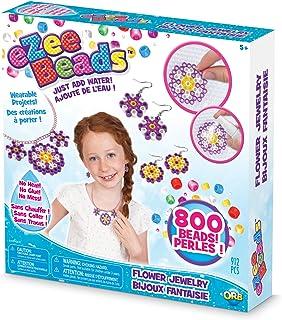"The Orb Factory eZeeBeads Flower Jewelry Arts & Crafts, Yellow/Pink/Purple/White, 9.5"" x 2.125"" x 9.5"""