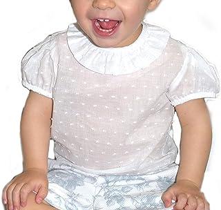 Godettia, Camisas plumeti bebé Manga Corta. Fabricado en España.