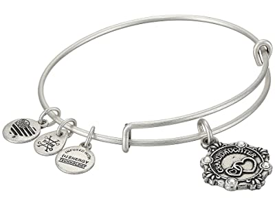 Alex and Ani Because I Love You Granddaughter III Bangle (Rafaelian Silver) Bracelet