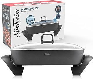 Sunbeam DiamondForce Banquet Electric Frying Pan   Durable Non-Stick Frypan   Tilt & Baste Lever   L 38cm x W 29cm   Deep ...
