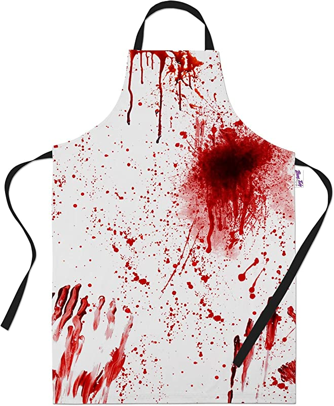 Printed Aprons For Bloody Murder Halloween BBQ Cooking Apron Kitchen Gift