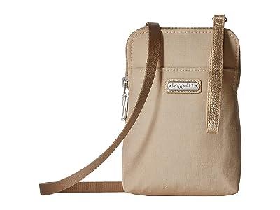 Baggallini New Classic Take Two RFID Bryant Crossbody (Champagne Shimmer) Handbags