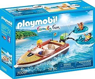 PLAYMOBIL Family Fun Lancha con Flotadores, A partir de 4 años (70091)
