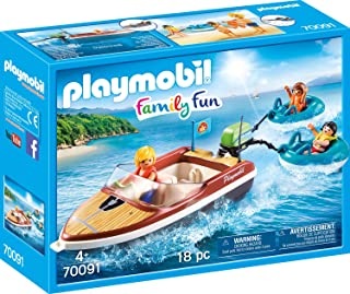 Playmobil Speedboat with Tube Riders 70091 Fun Family Figures Boat with Equipment