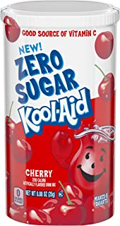 Kool Aid Cherry Zero Sugar Drink Mix, Makes 8 Quarts (0.88 oz Canister)