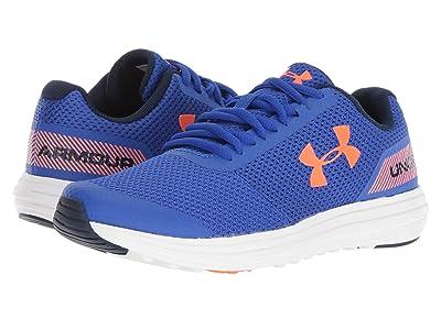 Under Armour Kids UA BGS Surge Running (Big Kid) (Team Royal/White/Magma Orange) Boys Shoes