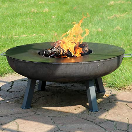 "40"" Fire Pit Cast Iron Wood-Burning Fire Bowl with Cooking Ledge-Fire Pit-Wood Stove-Wood Burning Stove-Outdoor fire Pit-Fire pits-Fireplace-Wood Burning-Fire Wood-Outdoor Stove-Patio fire Pit"