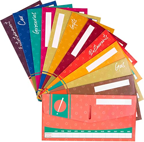 2021 Cash Envelope System for Budgeting lowest and Saving Money - Budget Keeper- wholesale 12 Pack Assorted Colors online sale