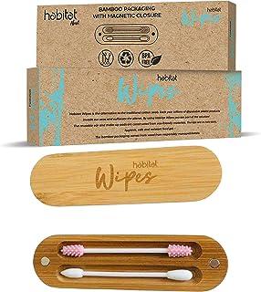 KafooStore Coton Tiges R/éutilisables soin des b/éb/és et enfants Lot de 2 Cotons-tige en Silicone R/éutilisables et Lavables maquillage des yeux Nettoyage des oreilles