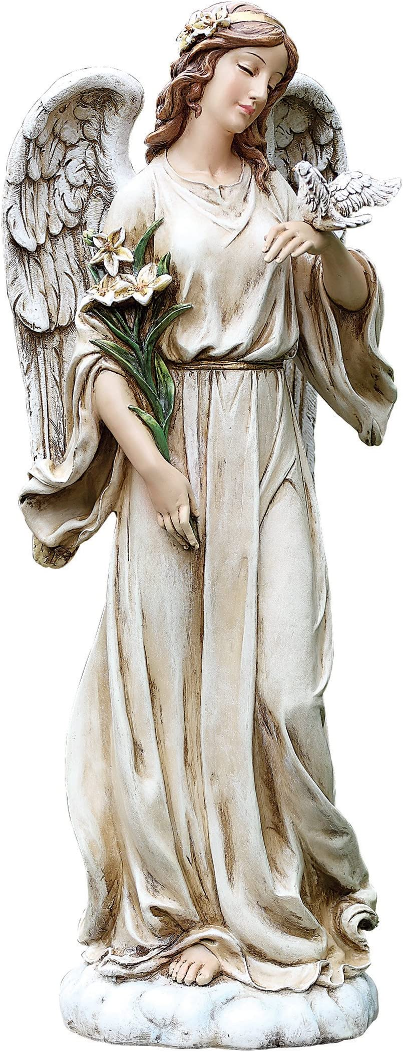Joseph S Studio By Roman Angel With Dove Statue 24 5 H Garden Collection Resin And Stone Decorative Religious Gift Home Indoor And Outdoor Decor Durable Long Lasting Outdoor Statues Garden Outdoor