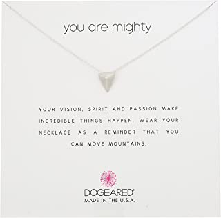 Dogeared Sterling Silver You Are Mighty Reminder Necklace, 18