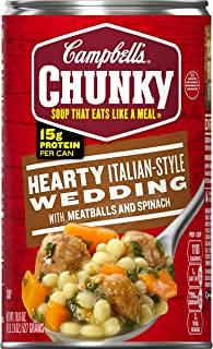 Campbell's Chunky Hearty Italian-Style Wedding with Meatballs and Spinach Soup, 18.6 oz. Can