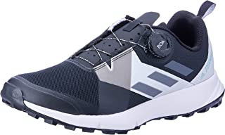 adidas Women's TERREX Two Boa Trail Running Shoes, Core Black/Grey/Footwear White, 10 US