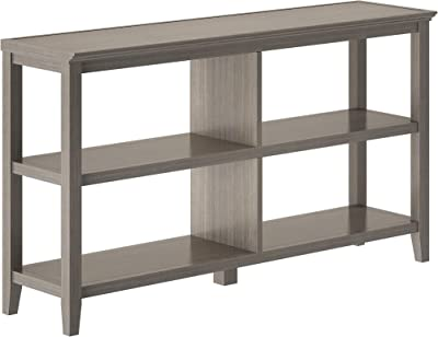 NewRidge Home Goods NewRidge Home Bookcase Bookshelf, Horrizontal, Washed Grey