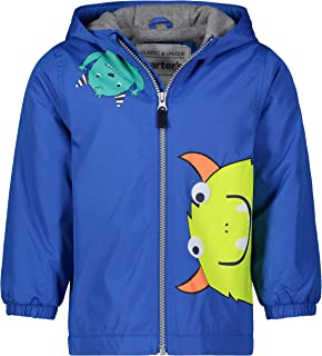 Carter's Boys' Fleece Lined Perfect Midweight Jacket, Blue/Monsters, 5/6