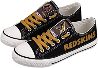 Jungle Co. Football Team Shoes- Team Shoes- Sportswear Canvas Shoes Womens Sizing- Football Team Sneakers- Football Team Accessories Athletic Canvas Shoes