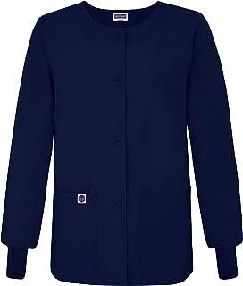 Sivvan Women's Scrub Warm-up Jacket/Front Snaps - Round Neck