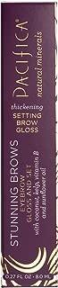 Pacifica Beauty Stunning Brows Eye Brow Gloss & Set, Golden Brown, 0.27 Ounce