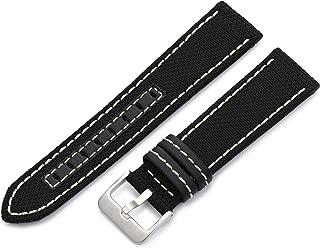 Hadley-Roma 22mm 'Men's' Watch Strap, Color:Black (Model: MSM848RT 220)