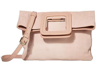 TMRW STUDIO Milo Fold-Over Clutch (Rose Suede) Handbags