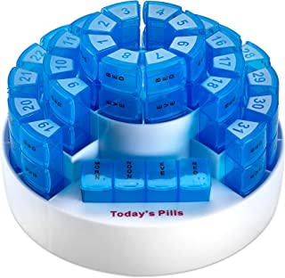 Monthly Pill Box by MEDca - Smart Prescription Organization with Multiple Daily Doses Section, Removable Compartments Perfect for Travelling