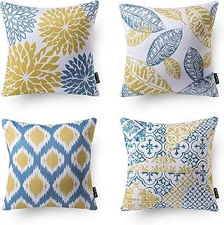 Best blue yellow throw pillows Reviews