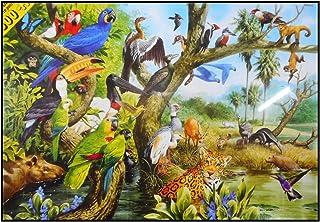 N / A James Hamilton 1500 T. Pussel 86 x 60 cm leopard papegoja Ara tukan fågel Specht AFFE statisk elektricitet MATO Gros...