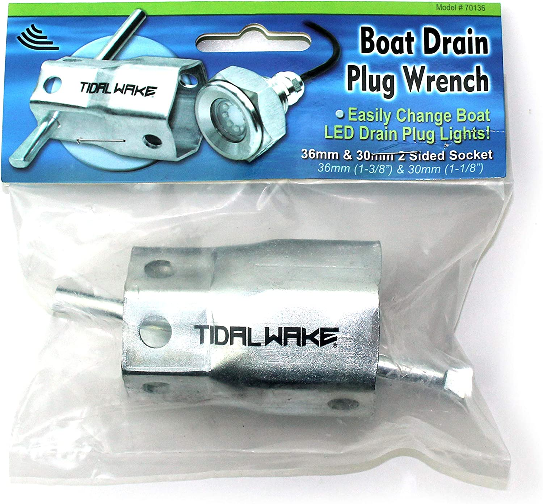 Tidal Wake IP68 Price reduction Underwater 1 2in Plug Fees free!! Boat Drain Li Standard LED