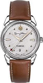 [クエルボ・イ・ソブリノス]Cuervo y Sobrinos 135周年記念モデル世界限定882本 腕時計 紳士用 HISTORIADOR TRADICION ヒストリアドール トラディション 3195-1TR-S メンズ 【正規輸入品】