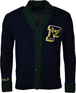 Men's Varsity P-Wing Shawl Neck Cardigan Sweater
