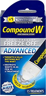 Compound W Accu-Freeze Freeze Off Advanced | Wart Removal | 15 Treatments