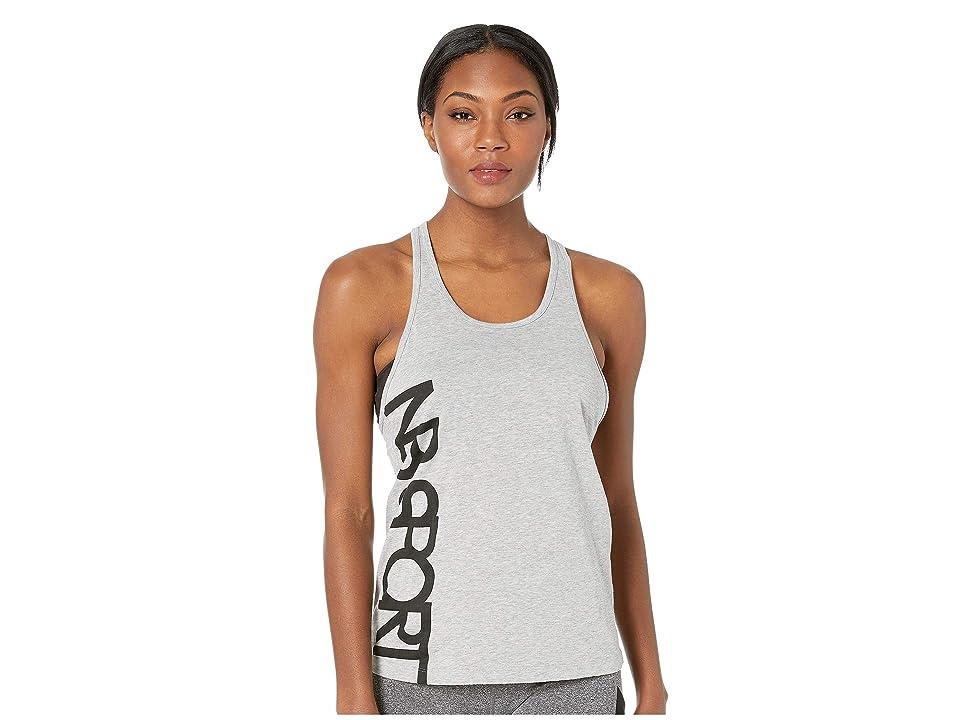 New Balance Graphic Heather Tech Racerback (Athletic Grey) Women