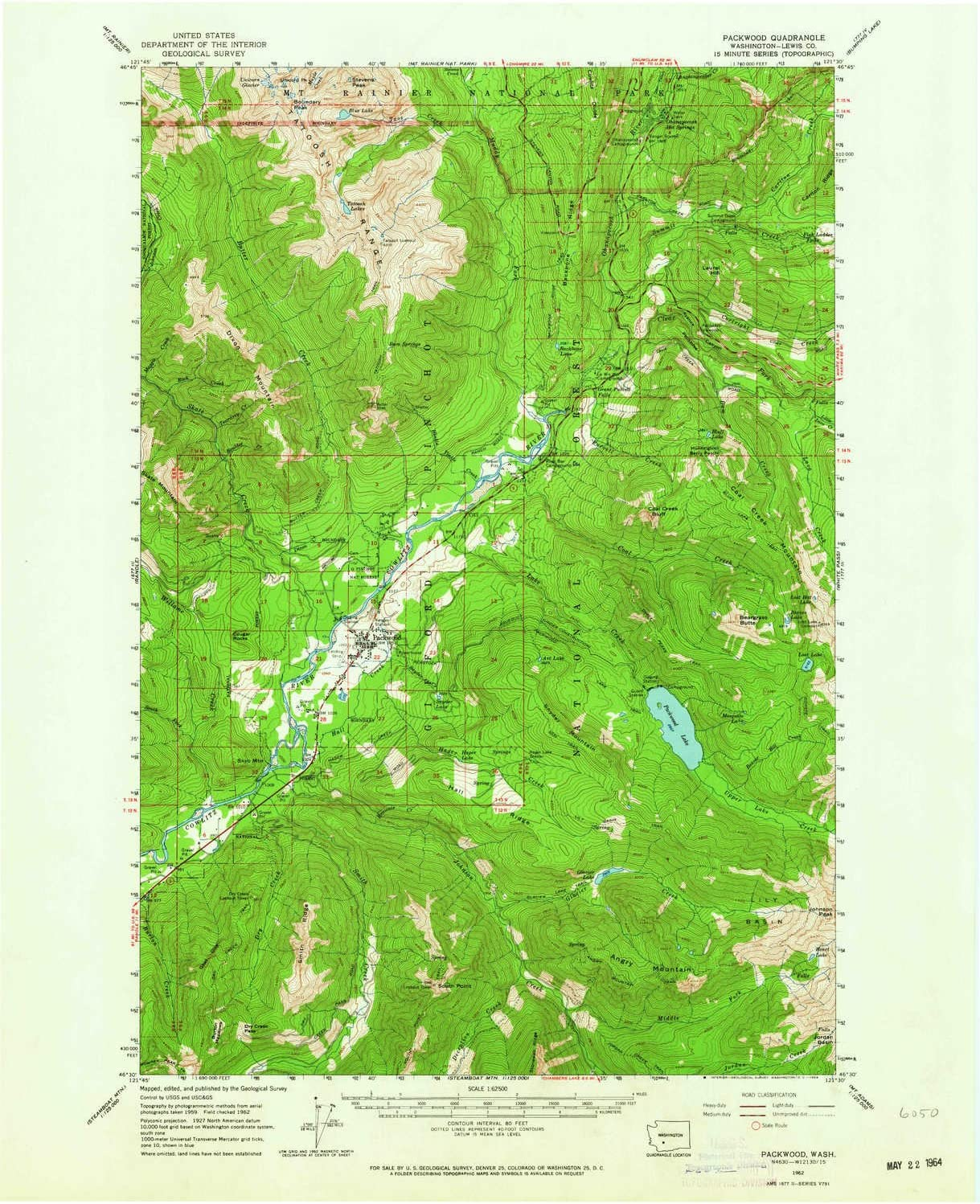 YellowMaps Packwood WA topo map X 1:62500 Minute Scale Free Shipping New 15 Sale SALE% OFF