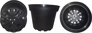 Plastic Pots for Plants, Cuttings & Seedlings, 4-Inch, 30-Pack. Color: Black