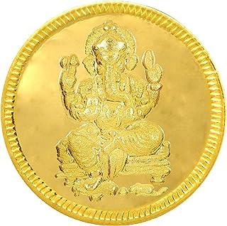 Joyalukkas 22k (916) 8 gm BIS Hallmarked Yellow Gold Precious Coin with Lord Ganesh Design
