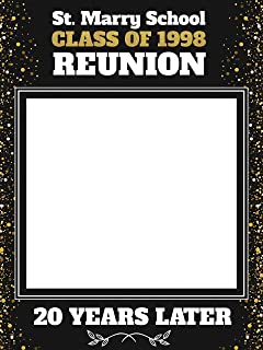 Graduation Reunion Custom Props Reunion Photo Booth Prop Size 36x24 48x36 Graduation Reunion Party Selfie Personalized College Photo Frame 20 years Reunion Handmade Photo Booth Prop