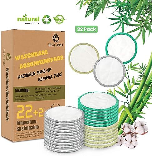Discos Desmaquillantes Reutilizables | 22 Pcs Discos de Algodon ...