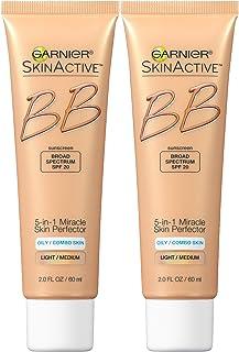 Garnier Skin Skinactive Bb Cream Oil-Free Face Moisturizer, Light/Medium, 2 Count