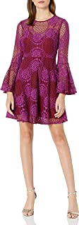 Donna Morgan Women's Bell Sleeve Lace Fit and Flare Dress