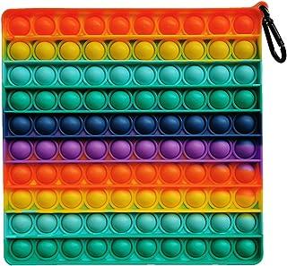 Sponsored Ad - 1 Pcs Big Size Push Pop Bubble Sensory Fidget Toys, 8In (100 Bubbles) Stress Reliever Silicone Pressure Rel...