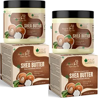 Bliss of Earth® Pure Organic Ivory Shea Butter, Raw Unrefined African, 2X100GM, Great For Face, Skin, Body, Lips, DIY prod...