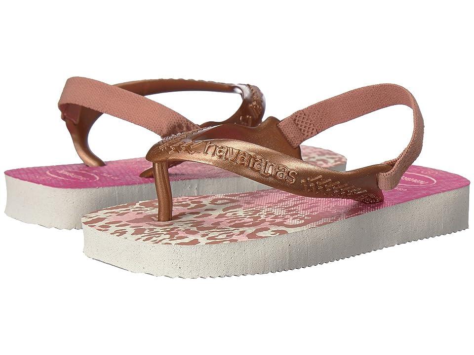 Havaianas Kids Baby Chic Flip-Flop (Toddler) (White/Golden Blush) Girls Shoes