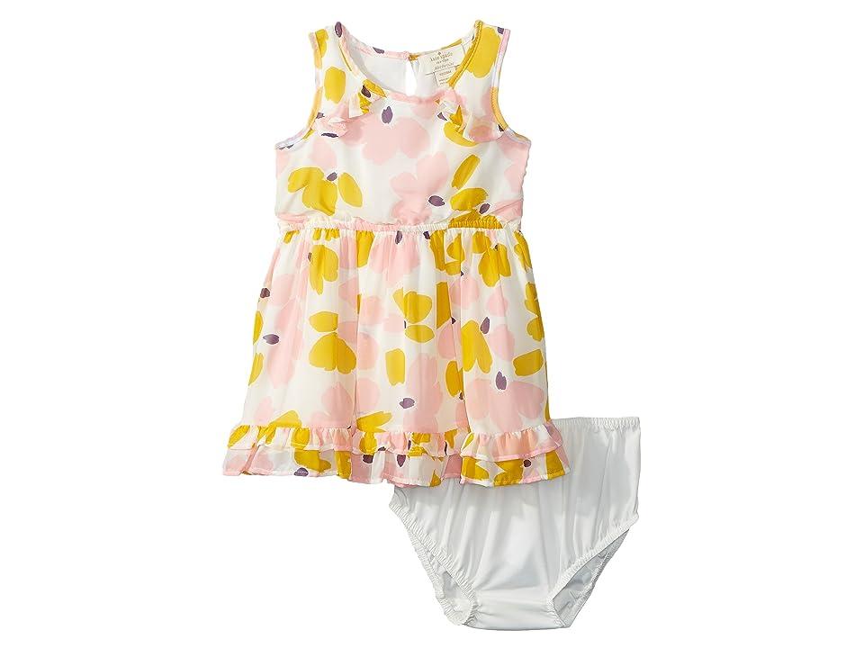 Kate Spade New York Kids Ruffle Hem Dress Set (Infant) (Paint Daub Floral) Girl