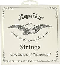 Aquila 68U Bass Ukulele Strings Thundergut, GDAE, Tuning Stability [Set of 4] White