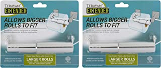 Teravan Standard Extender for Larger Toilet Paper Rolls (Pack of 2) (Silver)