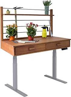 Vifah V1707 Grey Frame Sit to Stand Adjustable Height Potting Bench