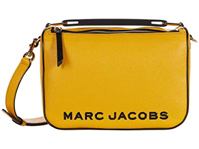 Marc Jacobs The Soft Box 23 Crossbody (Gold Ochre) Handbags